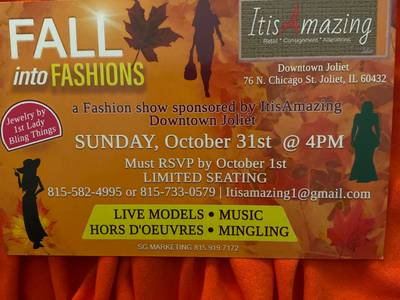 Fall into Fashion Show at It Is Amazing Downtown Joliet.